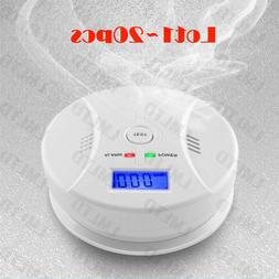 1~20pcs Carbon Monoxide and Smoke Alarm Battery Operate CO D