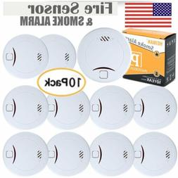 10 Pack HEIMAN Photoelectric 10 Years Battery LIFE Alarm Smo