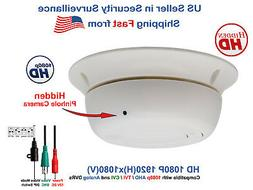 1080p Hidden Spy Nanny Security Camera HD Covert Smoke Detec
