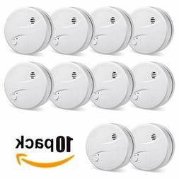 10Packs Photoelectric Smoke Alarm Sensor Fire Alert Detector