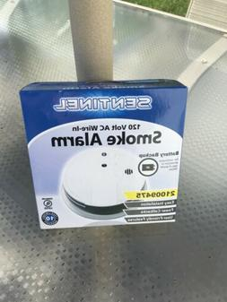 SENTINEL 120 Volt AC Wire In Smoke Alarm with Battery Backup