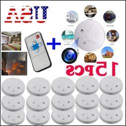 15pcs Alarm Sensor DVR Smoke Detector Fire Camera HD Spy Hom