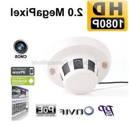 2.0 Megapixel PoE Indoor P2P Network IP Dome Camera Smoke De