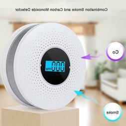 2 in 1 CO & Smoke Alarm Carbon Monoxide Detector Gas Warning