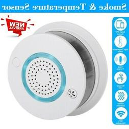 2 in 1 Fire Smoke Alarm Smart WIFI APP Temperature Sensor De