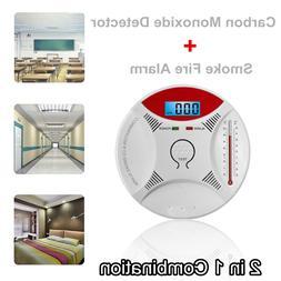 2 in 1 LED Digital Gas Alarm Co <font><b>Carbon</b></font> <