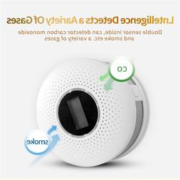 2 in 1 LED Digital Gas <font><b>Smoke</b></font> Sensor Alar