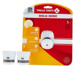 First Alert 2-pack 10-Year Atom Micro Smoke Alarms No Excuse