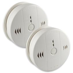 2-Pack Smoke Detector and Battery Operated Smoke and Fire Al