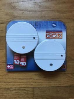 2 Pack ADT Smoke Detector and Battery Operated Smoke and Fir