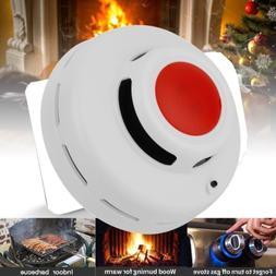 2IN1 CO Carbon Monoxide Detector Smoke Fire Alarm Sensor Bat