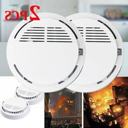 2PCS Wireless Fire Smoke Detector Sensor Alarm Monitor Exten
