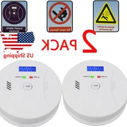 2×US Combination Carbon Monoxide Smoke Alarm Battery Operat