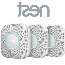 3 Pack Nest Protect Wired Smoke & Carbon Monoxide Detector A