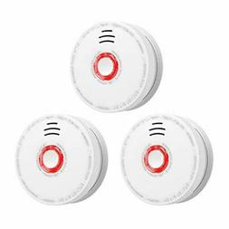 3 Pack Smoke Detector and Battery Operated Smoke and Fire Al
