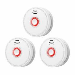 3Packs Smoke Detector Battery Operated 10Years Photoelectric