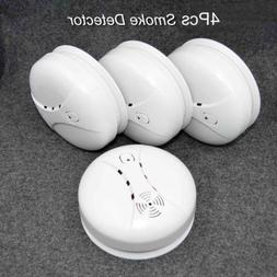 4 Pack Wireless Smoke Sensor Detector Alarm Battery Security
