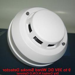 4-Wired Smoke Detector DC12V 24V NC / NO High Sensitive Fire