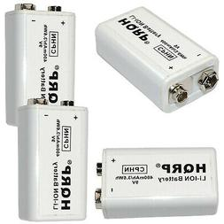 4x HQRP 9V LI-ION Rechargeable Batteries for Kidde i Series