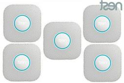 5 Pack Nest Protect Battery Operated Smoke Carbon Detector A