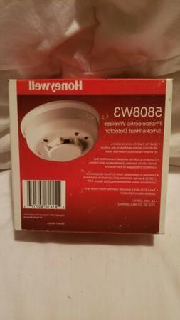 Honeywell 5808W3 Photoelectric Wireless Smoke/Heat Detector