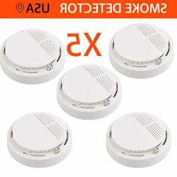 5X SMOKE ALARM Battery Operated Sensor Home Fire Safety Dete