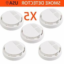 5x smoke alarm battery operated sensor home