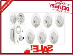 6-Pack Hard Wired Smoke Detectors Alarm With 9-Volt Battery