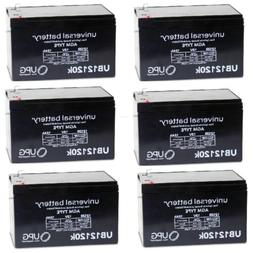 6 PACK NEW 12V 12AH F2 Replacement Battery for Burglar Alarm