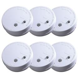Smoke Alarm 6-Pack Ionization Code One Battery Operated Fire