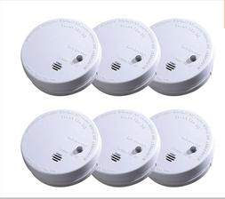 6 Pack Smoke Alarm Ionization Detector Battery Operated Home
