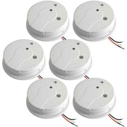 6 Pack Smoke And Carbon Monoxide Detectors Hardwired With 9V