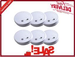 6-Pack Smoke Detector Alarm with Ionization Sensor 9 Volt Ba