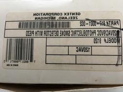 Gentex 9120 120VAC/9VDBC Photoelectric Smoke Detector with p