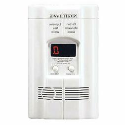AC Plug-in Carbon Monoxide and Explosive Gas Detector Alarm