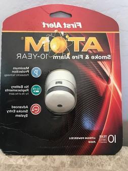 Brand New First Alert ATOM Smoke & Fire Alarm P1010  Micro d