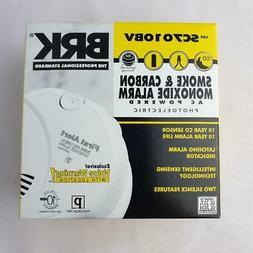 = BRK Smoke & Carbon Monoxide Alarm AC Powered SC7010BV Phot