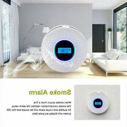 Carbon Monoxide Detector and Smoke. Alarm with Voice Warning