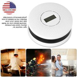 CO & Smoke Alarm Battery Powered Carbon Monoxide Detector Fi