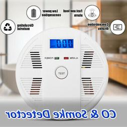 CO & Smoke Alarm Battery Powered LCD Carbon Monoxide Detecto