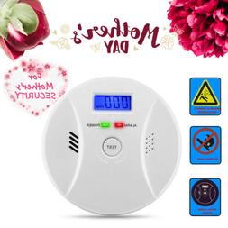 CO Carbon Monoxide & Smoke Detector Warning Alarm Poisoning