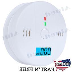 CO Carbon Monoxide Detector Fire Security Sensor Voice Alert