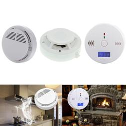 CO Carbon Monoxide Detector Smoke Sensor Warning Alarm LCD D