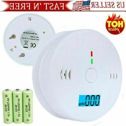 CO LCD Carbon Monoxide Alarm Poisoning Smoke Gas Sensor Warn