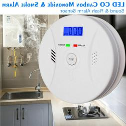 Combination Carbon Monoxide Alarm Battery Operate CO Gas Det