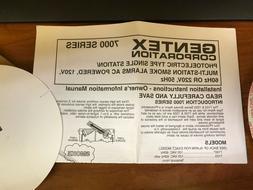 Gentex Corp Photoelectric Smoke Detector WTH Piezo Model#710