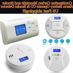 Digital CO Carbon Monoxide&Smoke Detector Alarm Poisoning Ga