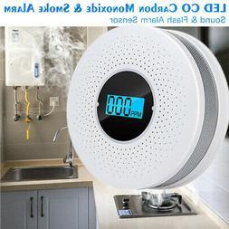 Fire Smoke Alarm Co Carbon Monoxide Detector Voice Warn Sens