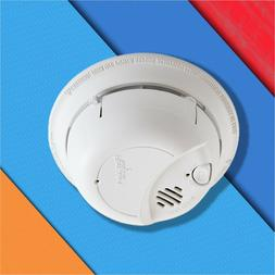 Fire Smoke Sensor Detector Alarm Hard Wired and Battery Back