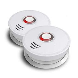 Smoke Detector, Ardwolf 2 Pack Photoelectric Smoke and Fire